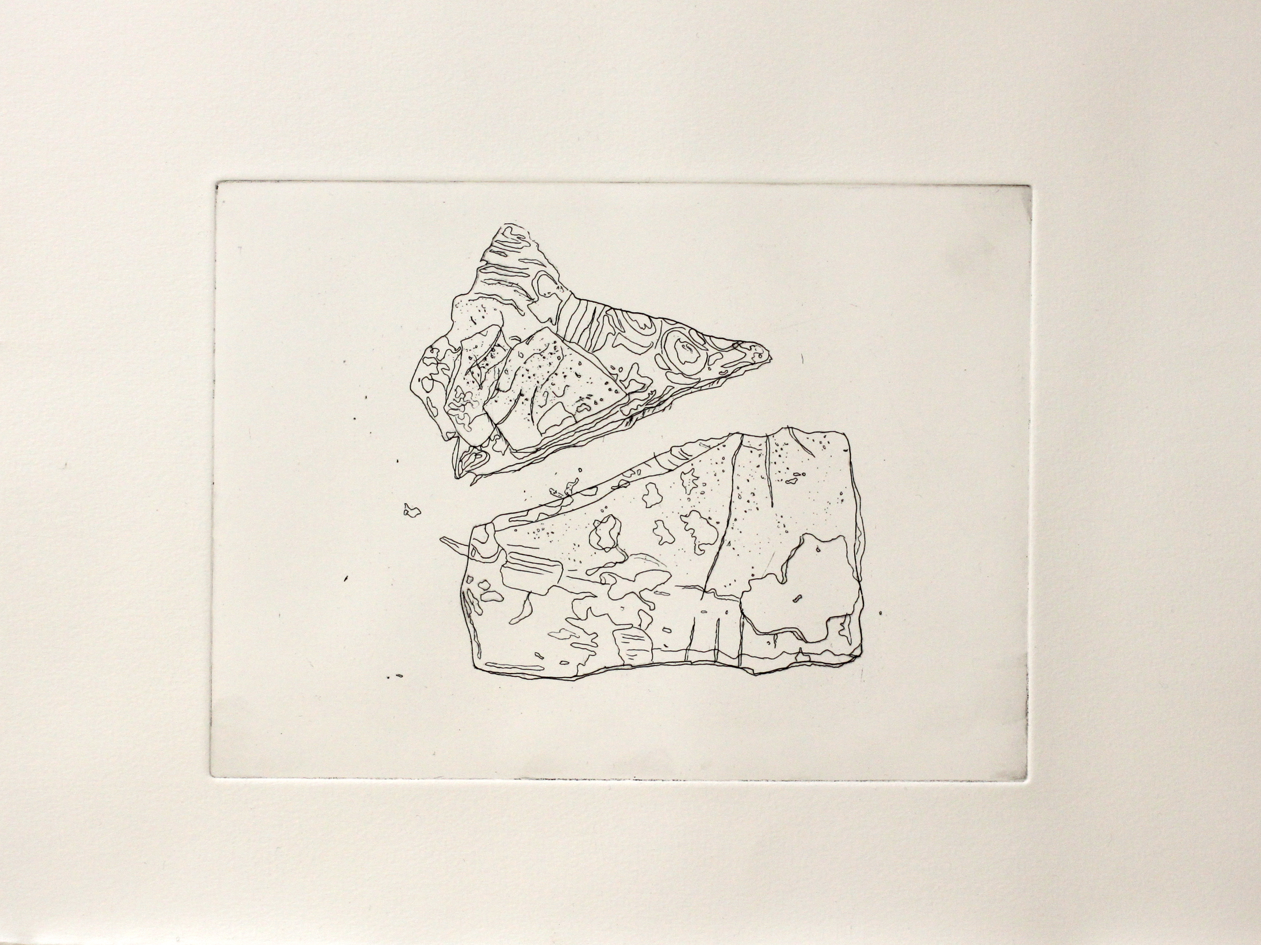 Light Pair | Hard groud etching by Abi Spendlove